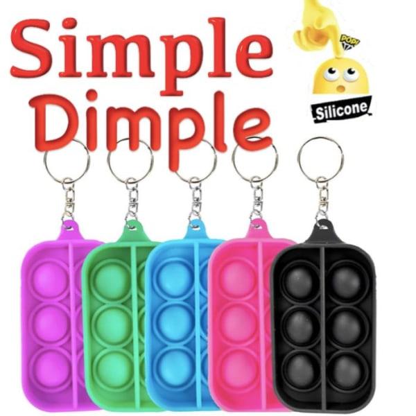 Simple dimple, MINI Pop it Fidget Finger Toy / Leksak- CE Svart