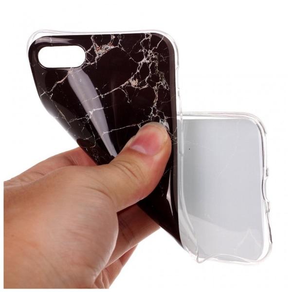 iPhone 6/6s Marmor Skal Premium TPU Svart Svart