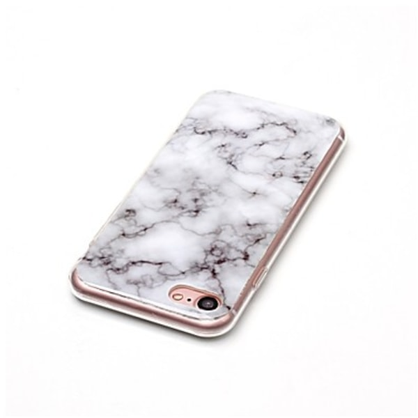 iPhone 6/6s Marmor Skal Premium TPU Vit Vit