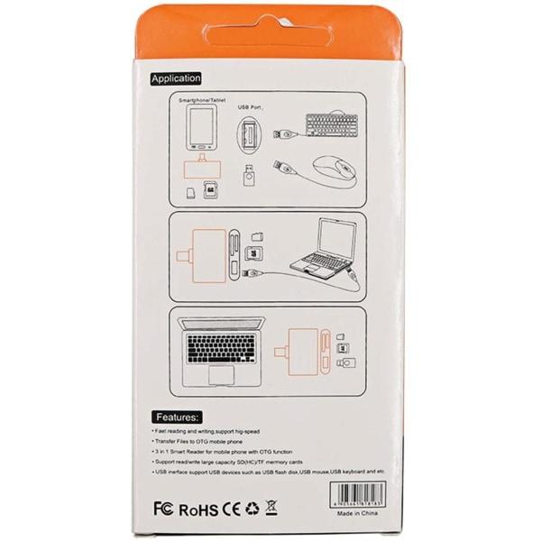 PREMIUM 3-i-1 Typ-C 3.1 OTG Smart Reader (TF Micro SD USB)