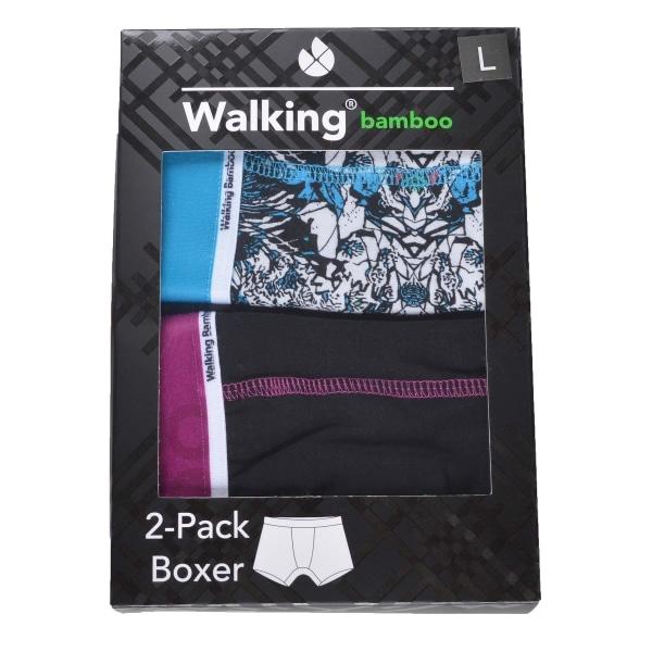 2-Pack Boxerkalsonger Bambu Svart/Blå S
