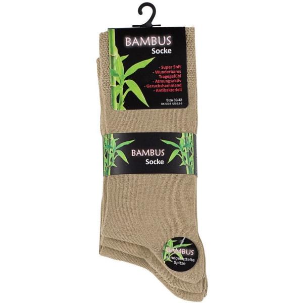 Bambustrumpor 3-Pack Beige 43-46