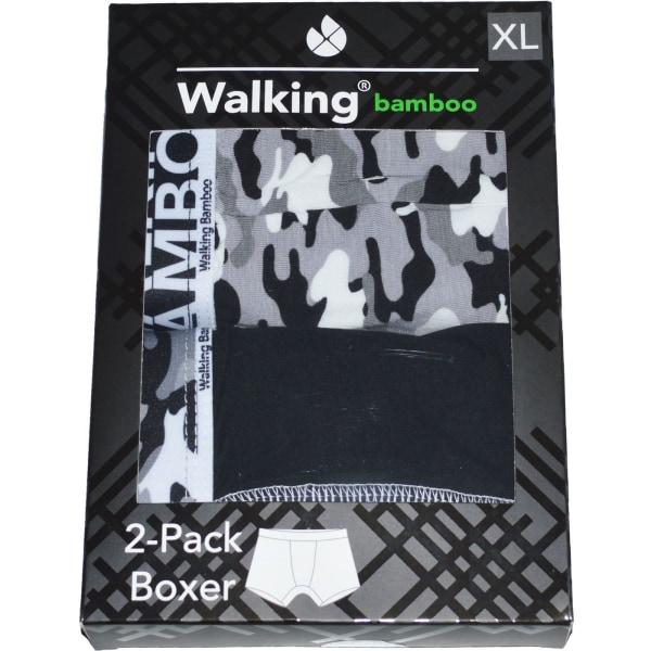 Boxerkalsonger Bambu 4-Pack Svart/Grå XL
