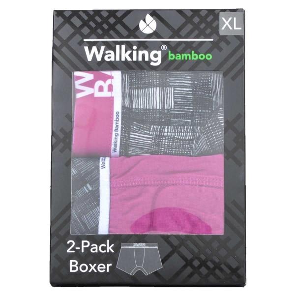 Boxerkalsonger Bambu 6-Pack Svart/Lila L