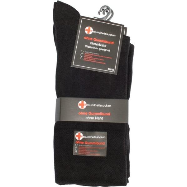 Diabetesstrumpor 6-Pack Svart 39-42