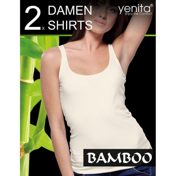 Linnen för dam i bambu 2-Pack Hudfärgad M