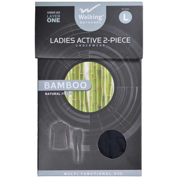 Underställ Dam Bambu 2-Pack Svart L