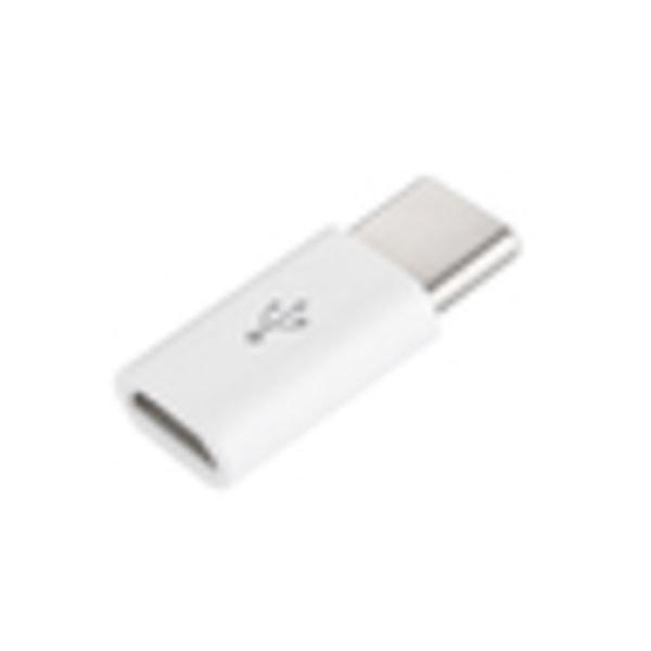 2 pack Micro USB till USB C adapter vit