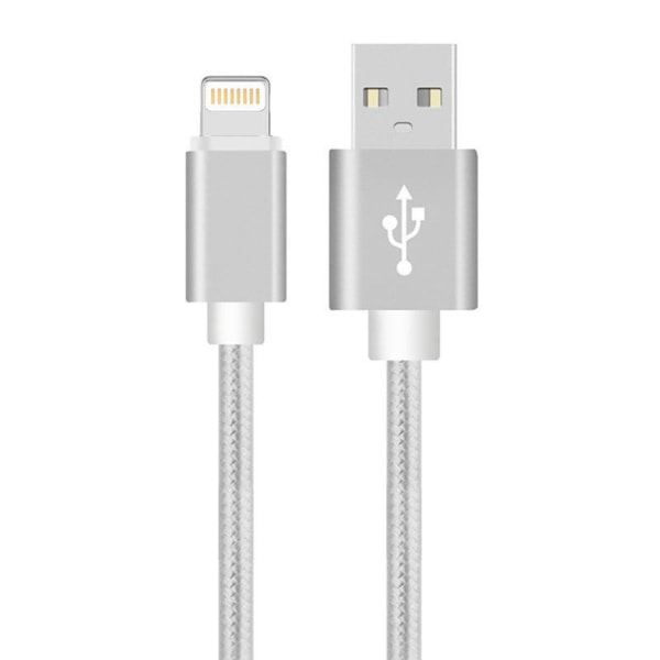 2m Lightning kabel för iPhone/iPad,  Silver