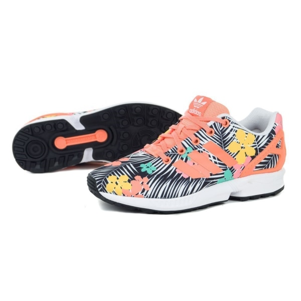 Adidas ZX Flux J Svarta,Orange,Vit 40