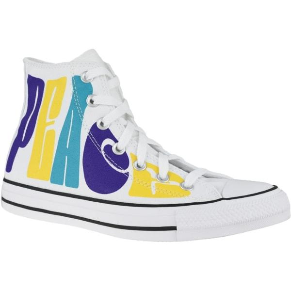 Converse Chuck Taylor All Star HI Peace Gula,Vit,Lila 41