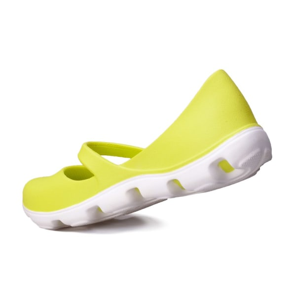 Crocs Duet Sport Mary Jane Vit,Gula 33