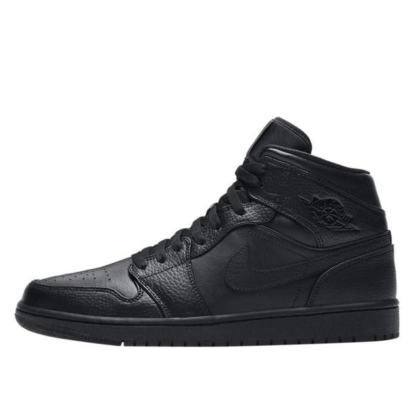 Nike Air Jordan 1 Mid Svarta 42