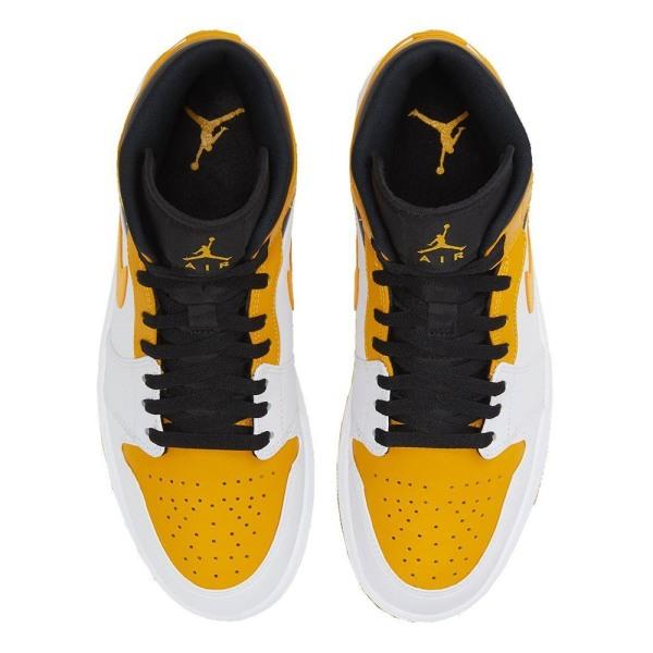 Nike Air Jordan 1 Mid Vit,Svarta,Honumg 45