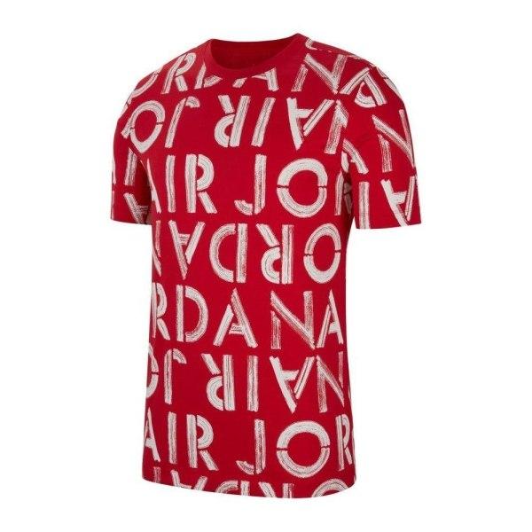 Nike Air Jordan Printed Crew Vit,Röda 173 - 177 cm/S