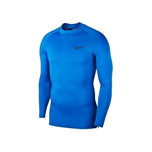 Nike Pro Top LS Tight Mock Golf Blå 188 - 192 cm/XL
