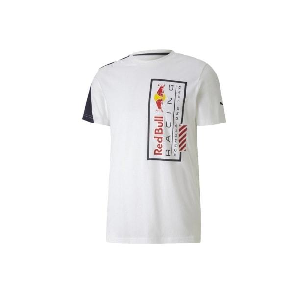 Puma Red Bull Racing Logo Tee Vit 170 - 175 cm/S