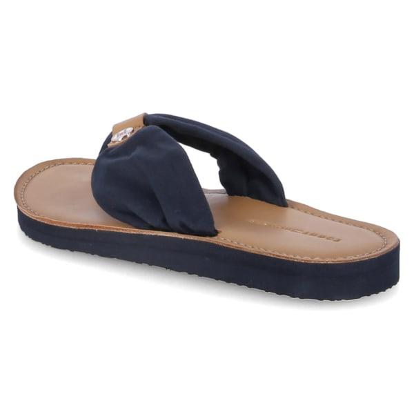 Tommy Hilfiger Leather Footbed Beach Blå 40