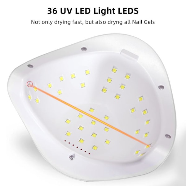 SUNX5 NAGELTORK SUPER UV/LED 80 W.2 ÅRS GARANTI MED TIMER.  Vit