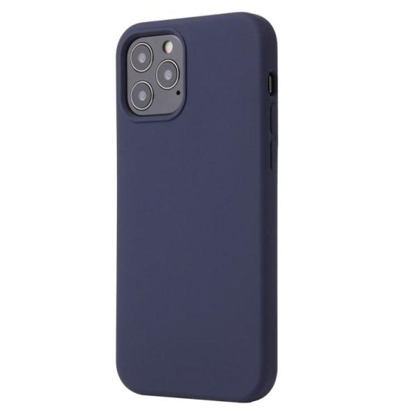 iPhone 12 MINI - Silicone Case - Mobilskal i silikon Mörkblå