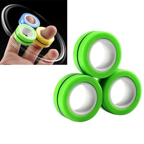 Magnetringar- Fidget Toys (3-pack) Grön
