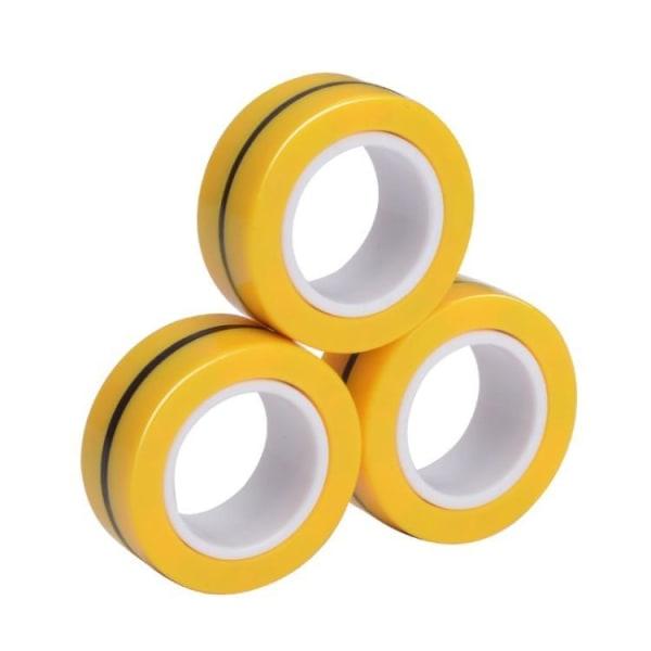 Magnetringar- Fidget Toys (3-pack) Gul