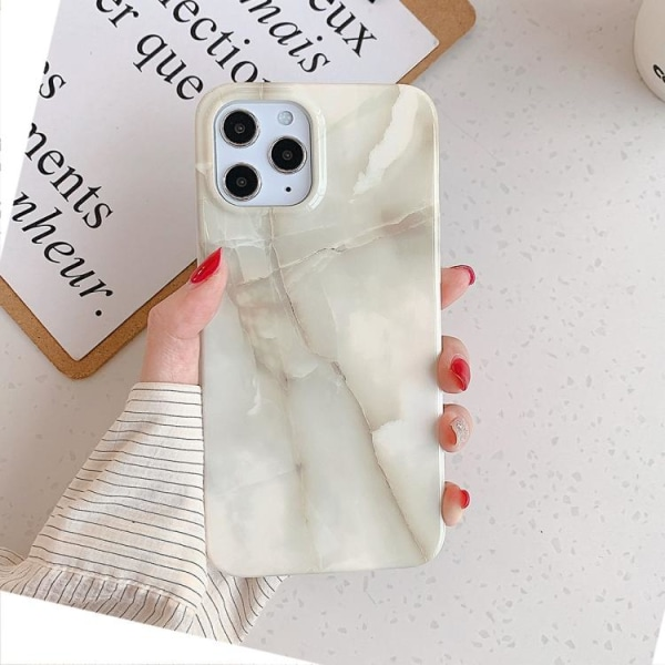 Marmor skal- iPhone 12 / 12 PRO  Vit