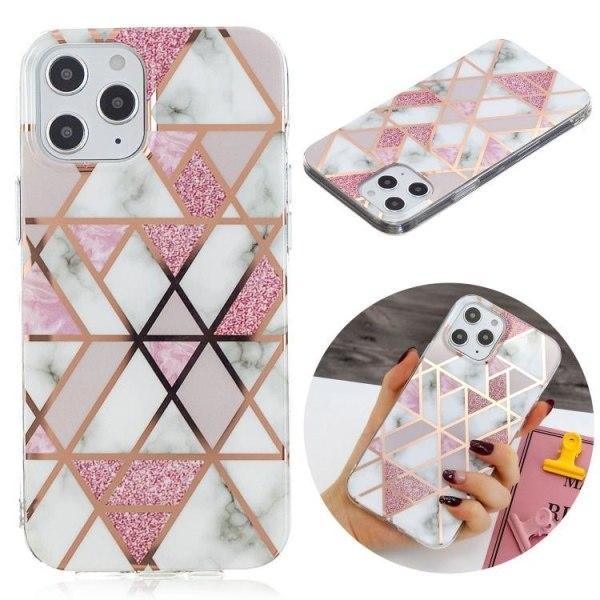 Mönster med marmor- skal till iPhone 12 / 12 PRO  Rosa