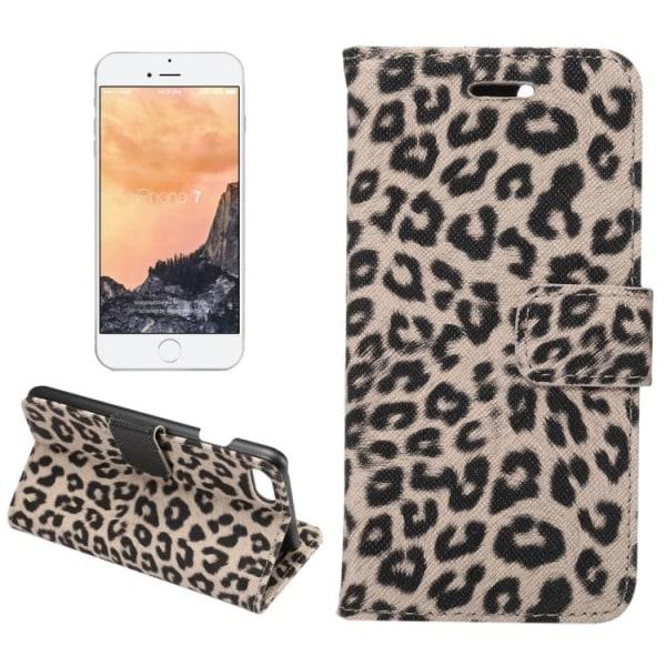 Plånbok i leopard till iPhone 7/8/SE 2020 multifärg