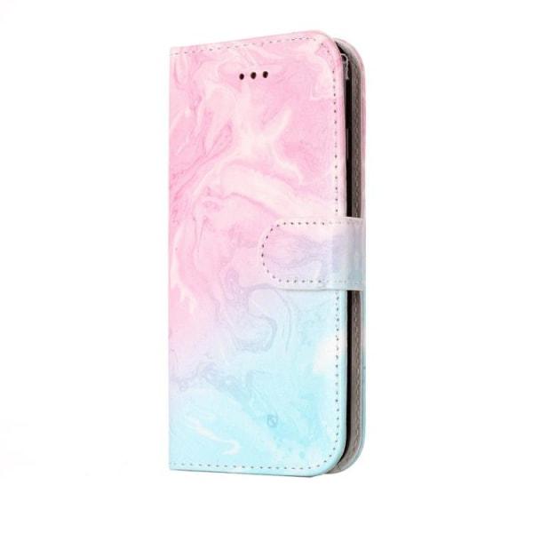 Plånbok med marmor mönster till iPhone 7/8/SE 2020 multifärg