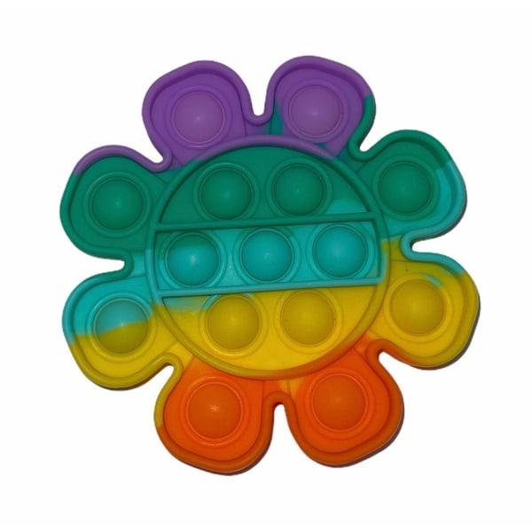 Pop it- Fidget Toy / Fidget Leksak- RAINBOW i flera modeller MultiColor Enhörning- Regnbåge