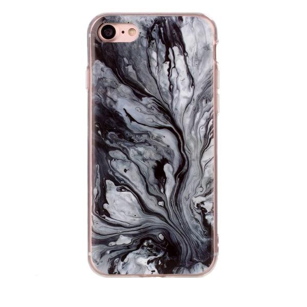 Svart och grå marmor- skal för iPhone 7  multifärg