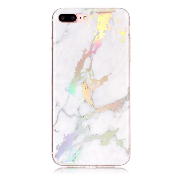 Vit och guld marmor- skal för iPhone 7 plus Vit