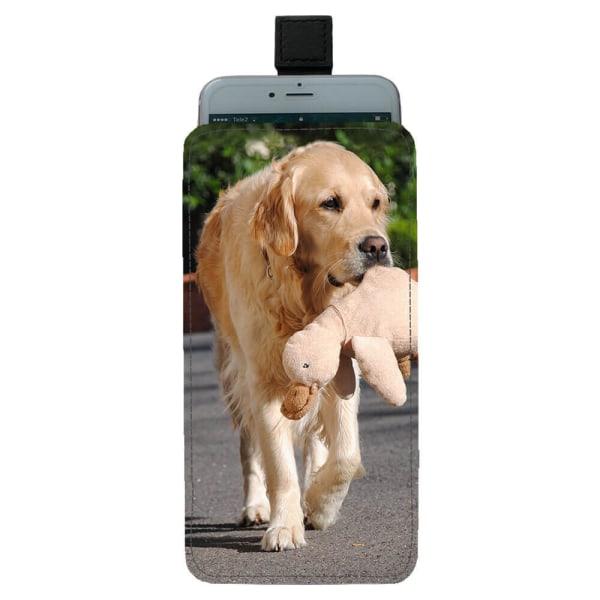 Hund Golden Retriever Universal Mobilväska