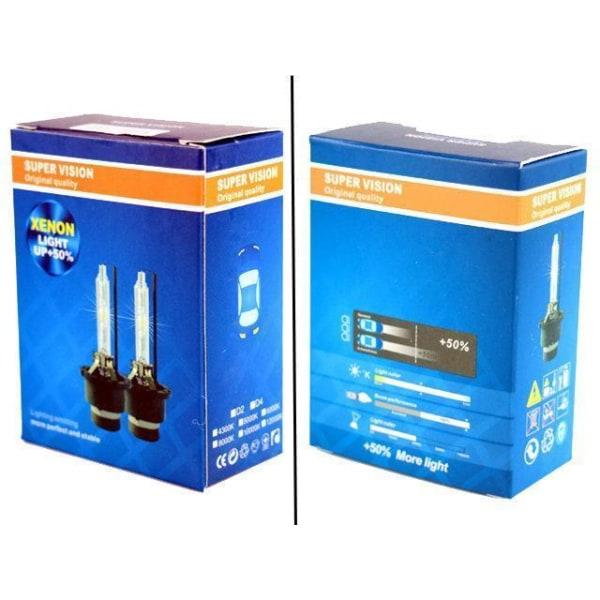 Xenon Lampor +50% D2S 35W 4300k - 8000k xenonlampor Supervision 6000k 2-pack