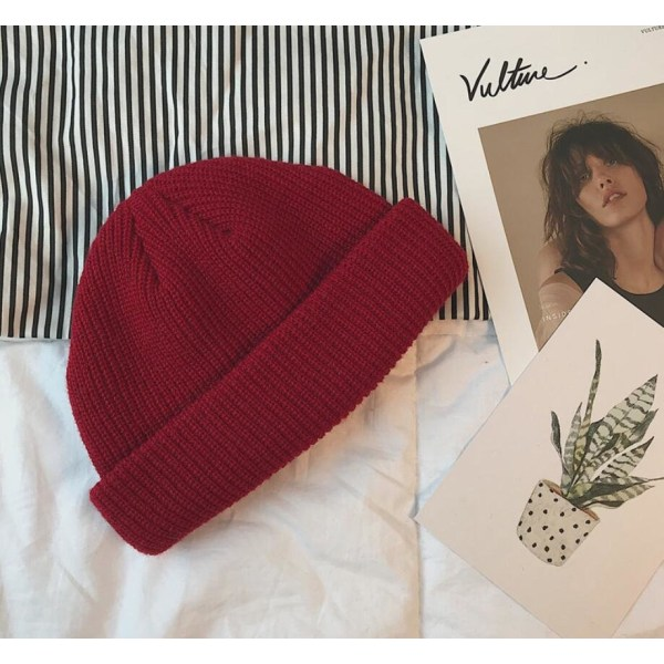 Beanie Hat Röd