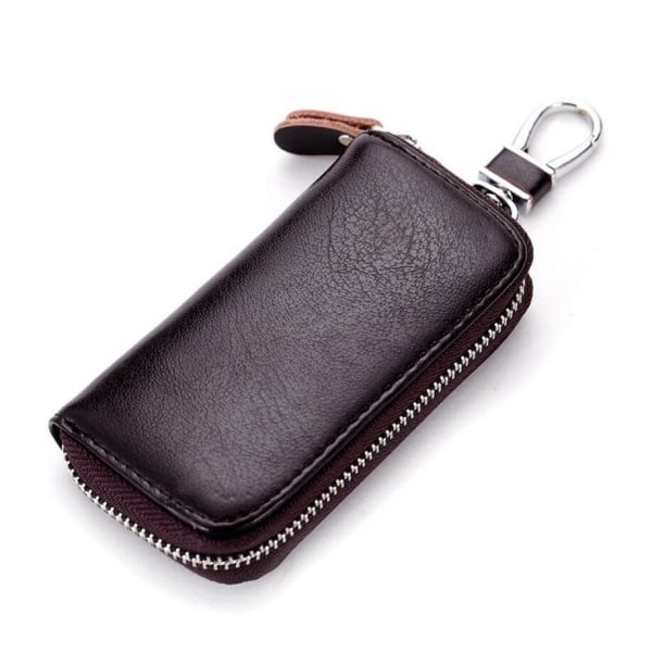Genuine Key Wallet Mörkbrun