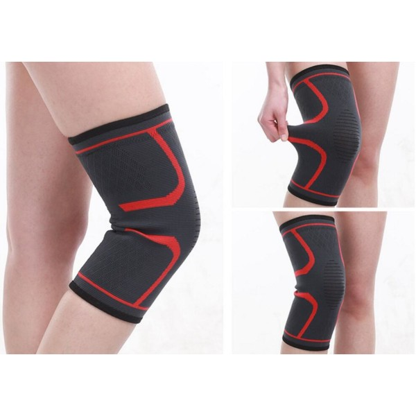 Knee Compression Sleeve - Large Röd L
