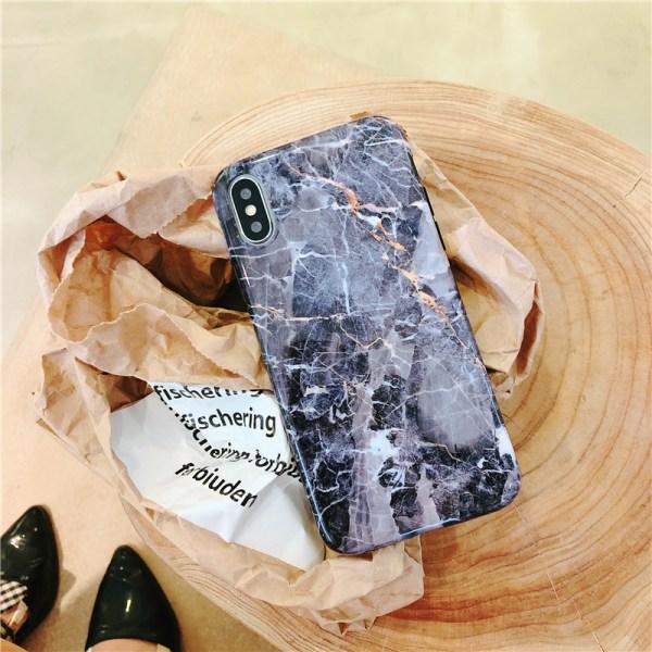 Marble Case iPhone X Svart