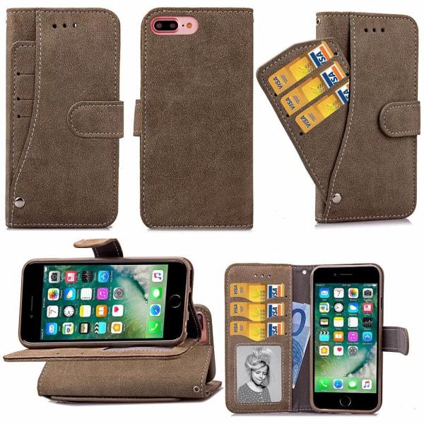 Suede Card Slot Case - iPhone 6 Svart