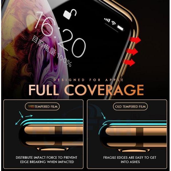 2 st heltäckande skärmskydd för iphone 7+ svart