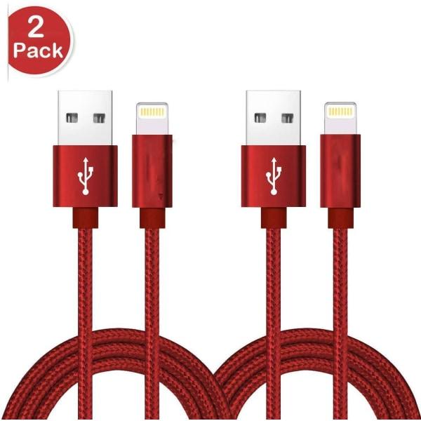 2 st super kvalitet 3 m iphone röd röd