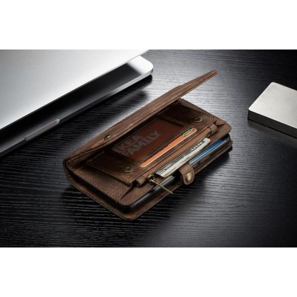 CaseMe (008)med dragkedja plånbokför iphone 11 mörk