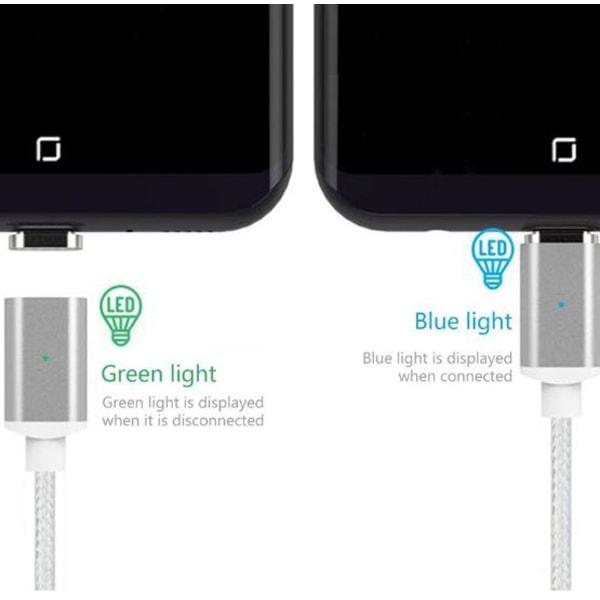 Magnetkabel för iPhone X 8 7 6 Plus Snabb Laddning