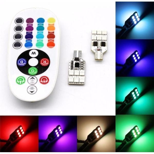 2-pack LED dekorationsljus, T10, RGB