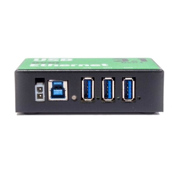3-Port USB via Ethernet Hub, USB 3.1 Gen 1, 900mA, svart
