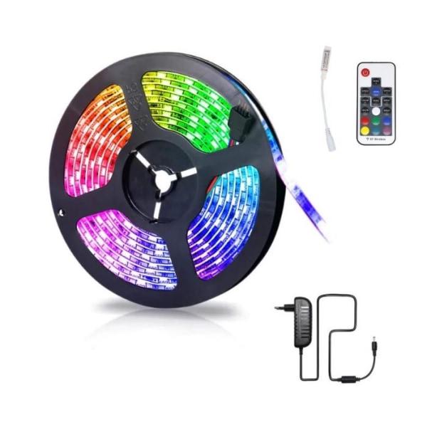 3528 RGB LED-strip med fjärrkontroll, 5m