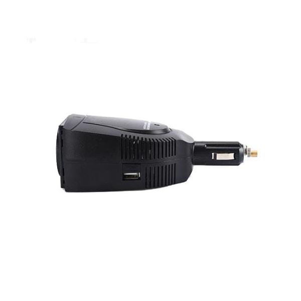 75W Växelriktare, modifierad sinusvåg, 110-230V, svart