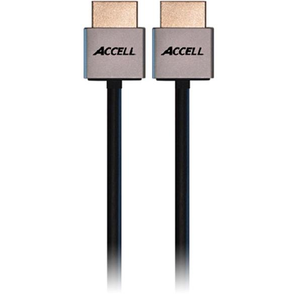 ACCELL ProULTRA Thin, HDMI-kabel, 1.4, ha-ha, 4K, 3D, 2m, svart