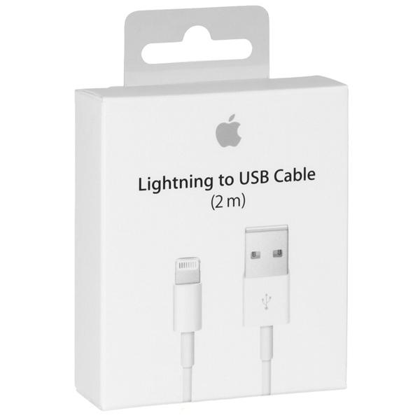 Apple Lightning kabel, USB till Lightning, 2m, vit, MD819ZM/A